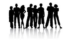 Young People silhouetten
