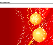 Christmas Balls with Swirly Sparkles