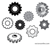 Vector Gear Set (8 Icons)