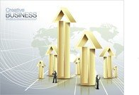 Business Applications Arrows Commercial Posters Vector 3